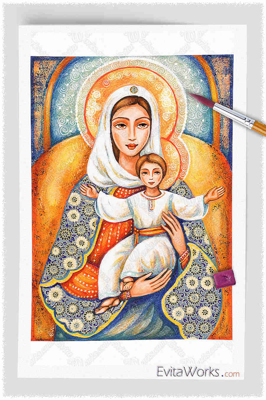 a4 madonna and child y18 ~ EvitaWorks