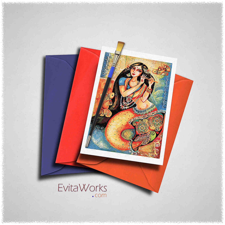 Mermaid Card ~ EvitaWorks
