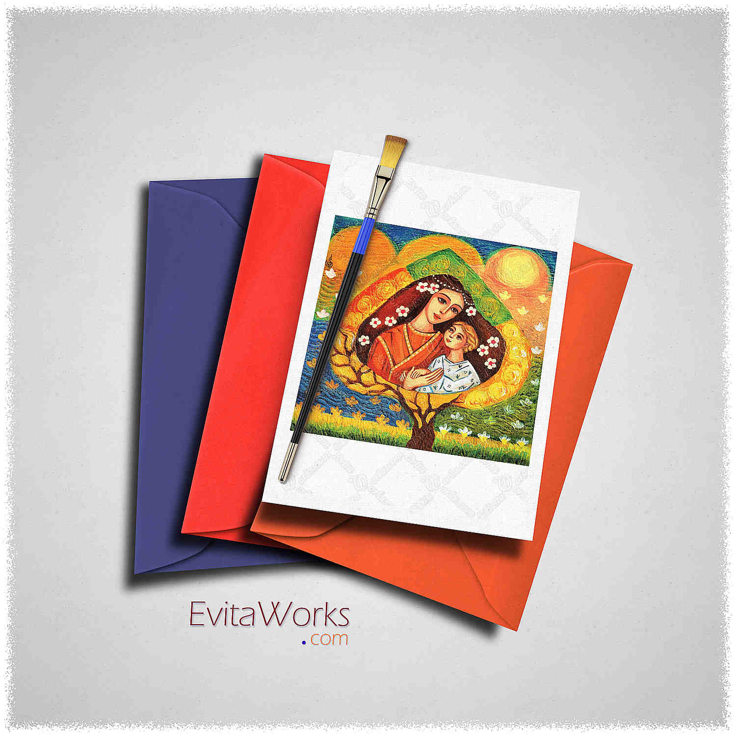 Mother Child 04 Card ~ EvitaWorks