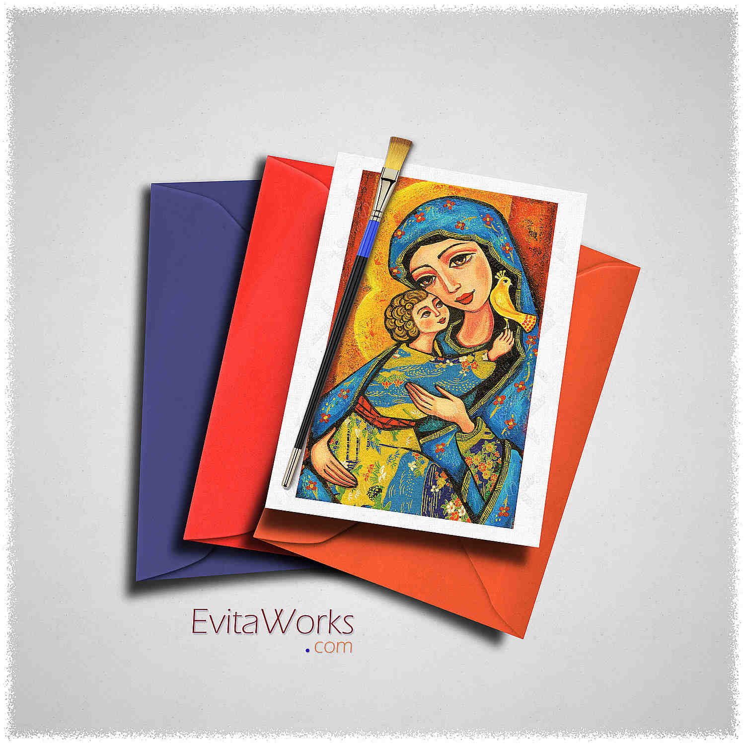 Mother Child 07 Card ~ EvitaWorks