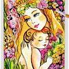 Yellow Madonna With Child ~ EvitaWorks