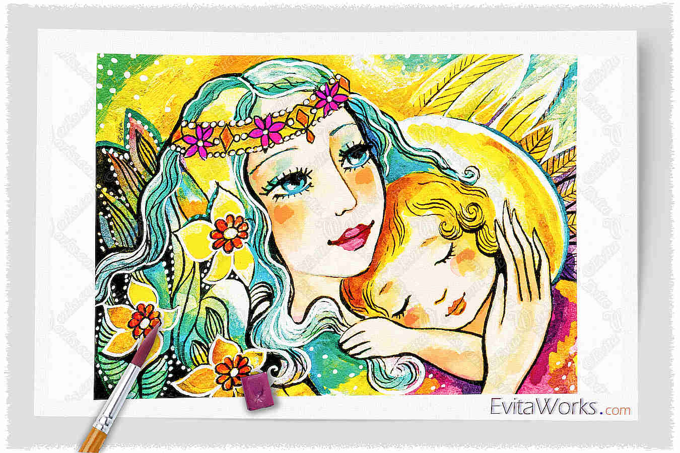 Fairy Mother And Angel Child ~ EvitaWorks