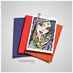 Indian Woman 03 Card ~ EvitaWorks