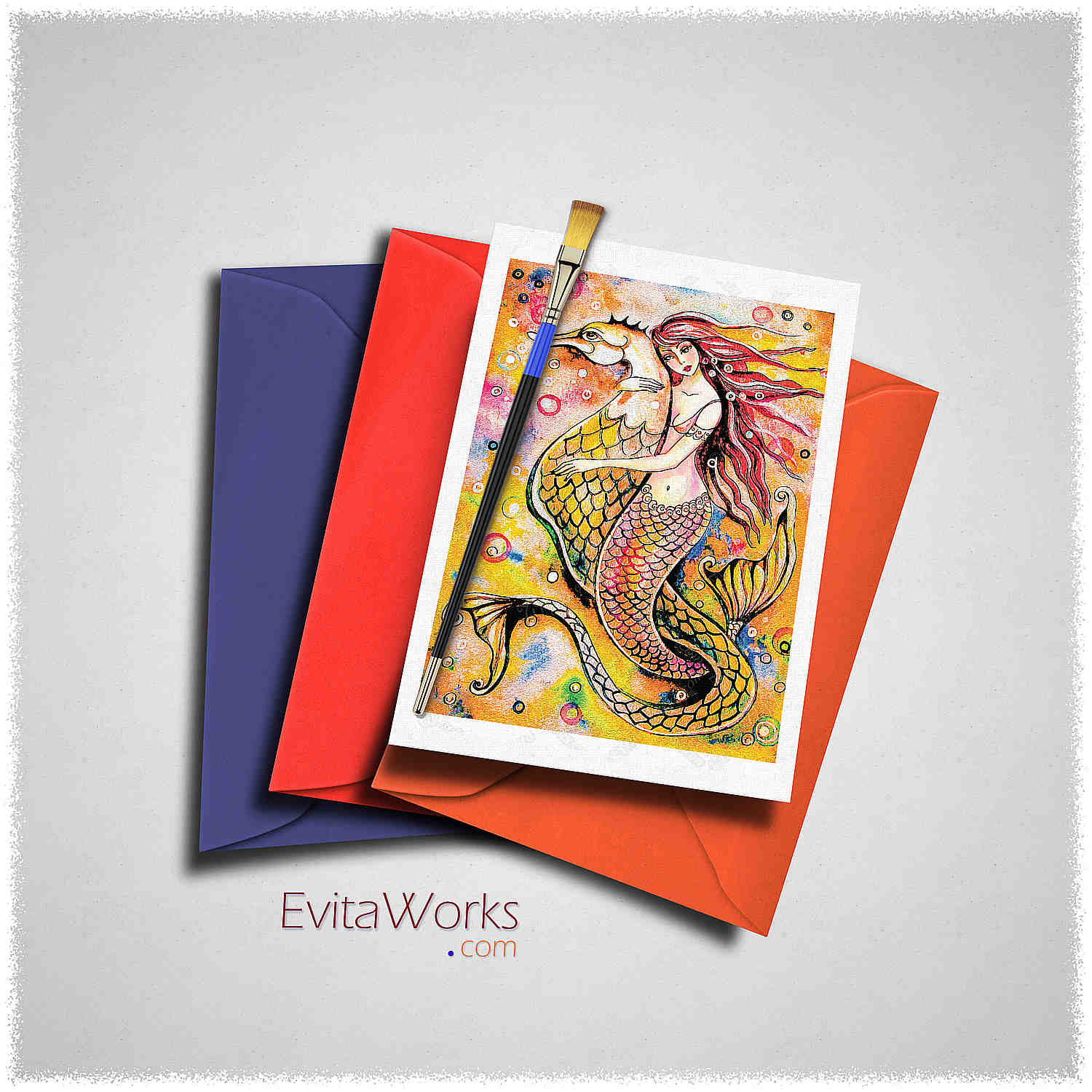 Mermaid 25 Card ~ EvitaWorks