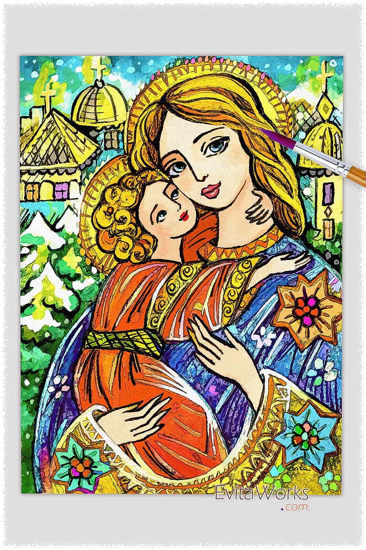 Blue Madonna And Child ~ EvitaWorks