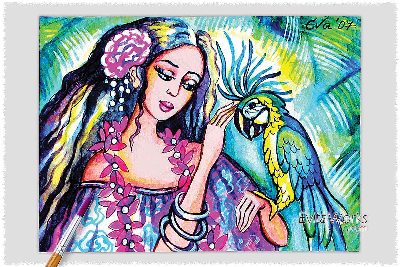 Parrot Lady 01 ~ EvitaWorks