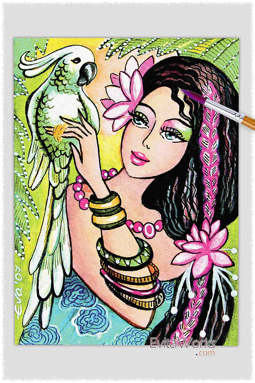 Parrot Lady 04 ~ EvitaWorks
