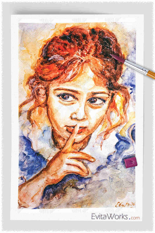 Portrait Of A Child 01 ~ EvitaWorks