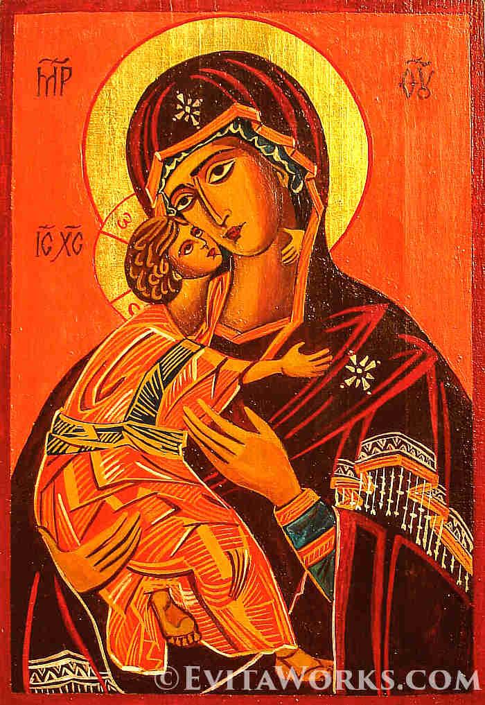 Vladimirska Mother Of God ~ EvitaWorks