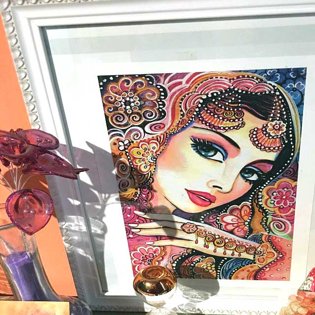 im beautifully framed kumari ~ EvitaWorks