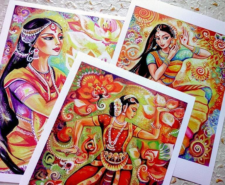 im ganges flower pray lotus sunshine dance prints ~ EvitaWorks