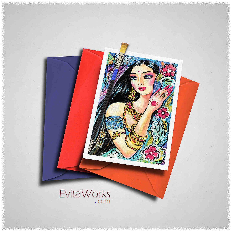 East Woman 11 Card ~ EvitaWorks