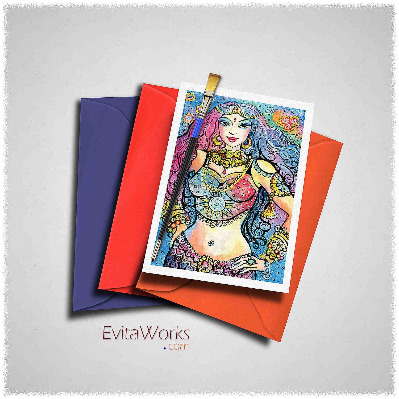 East Woman 16 Card ~ EvitaWorks