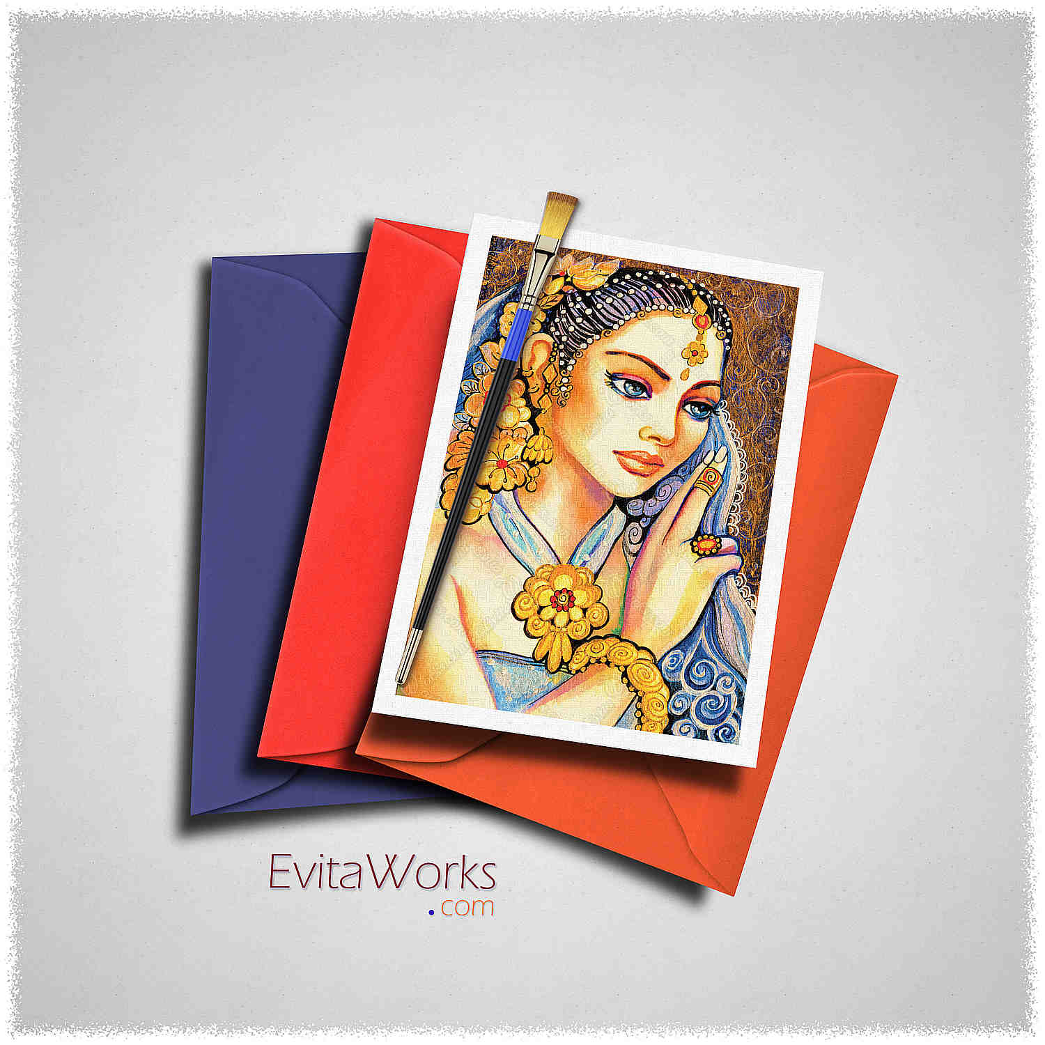 East Woman 19 Card ~ EvitaWorks